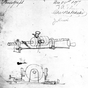 Edison phonograph sketch November 29 1877